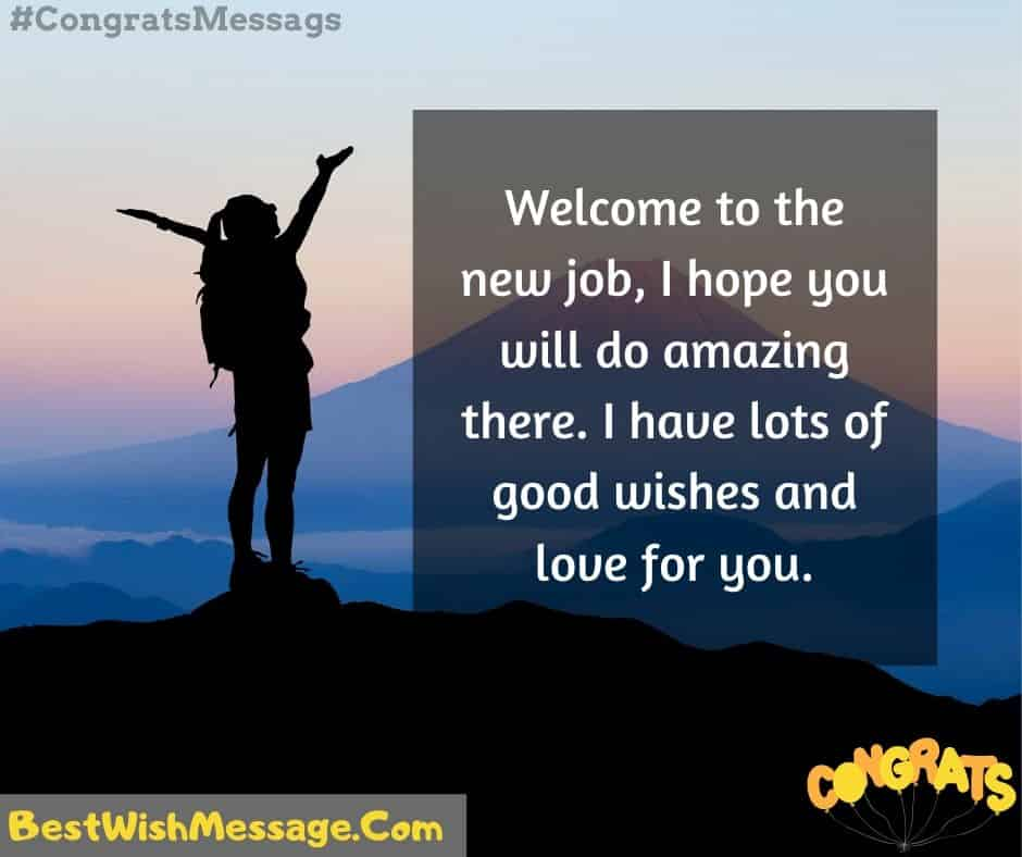 Best Wishes for New Job | Congratulations Messages