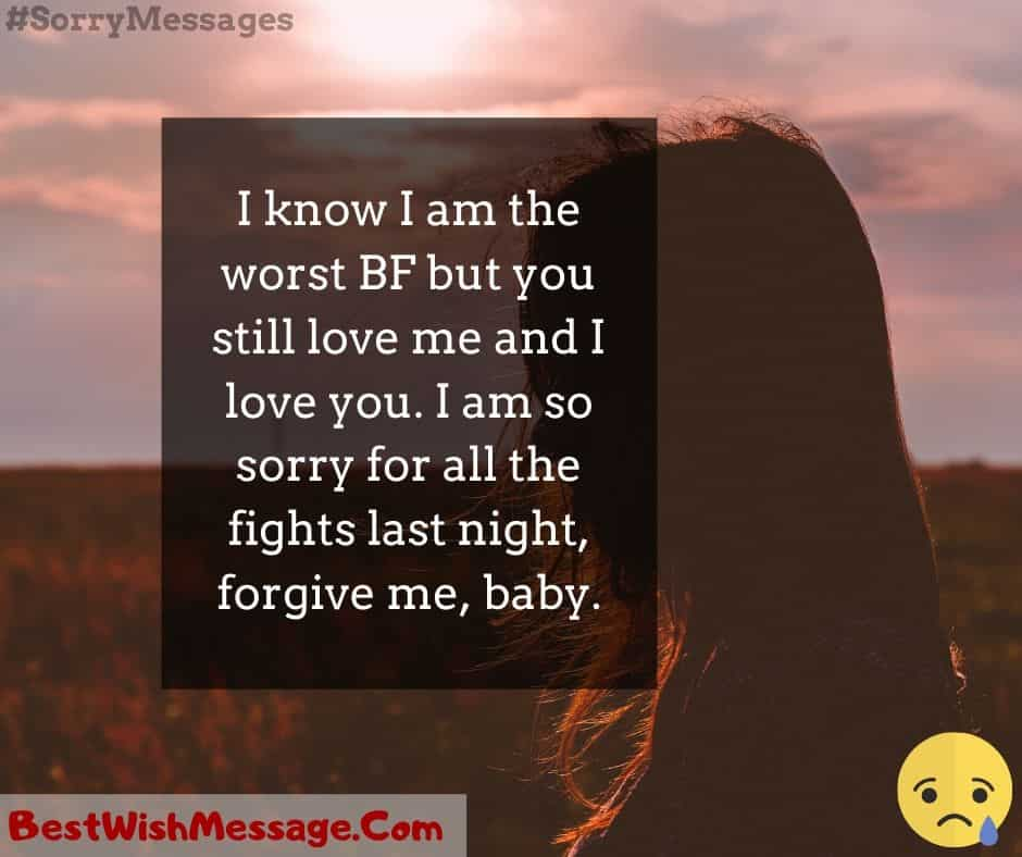I'm Sorry SMS for Girlfriend