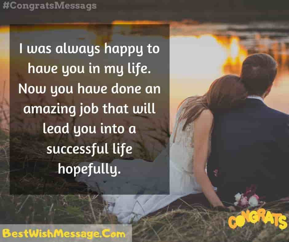 Best Wishes for New Job to Wife
