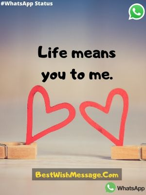 life means you to me.