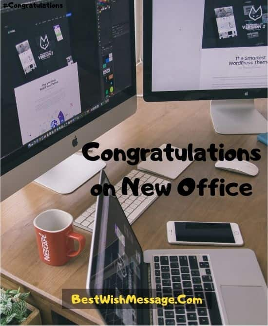 Congratulations Messages for Business Relocation