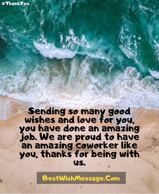Thank You Message to Colleagues