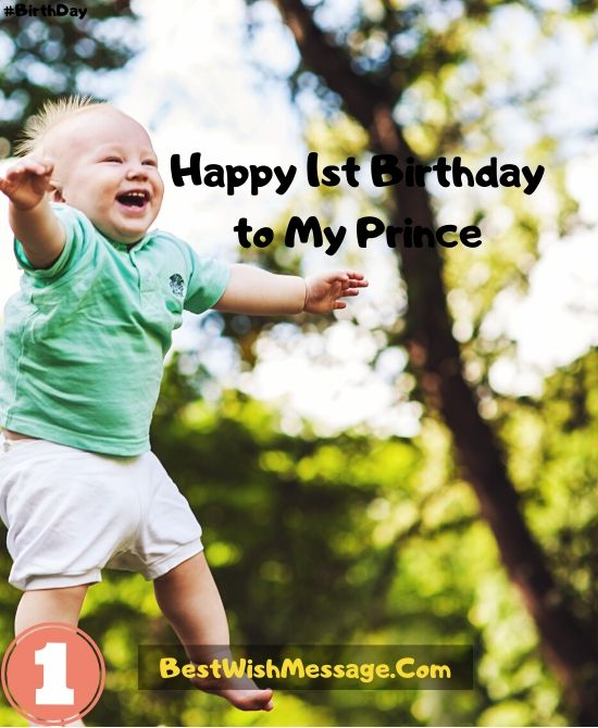 First Birthday Wishes for Baby Boys