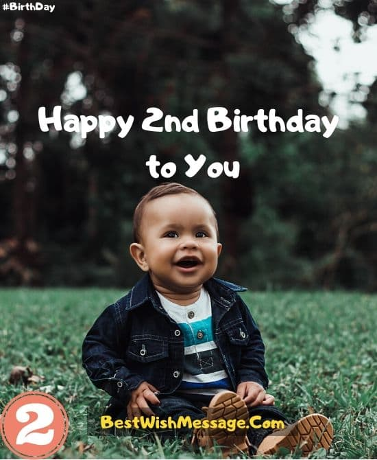 Sweet 2nd Birthday Wishes for Baby Boy