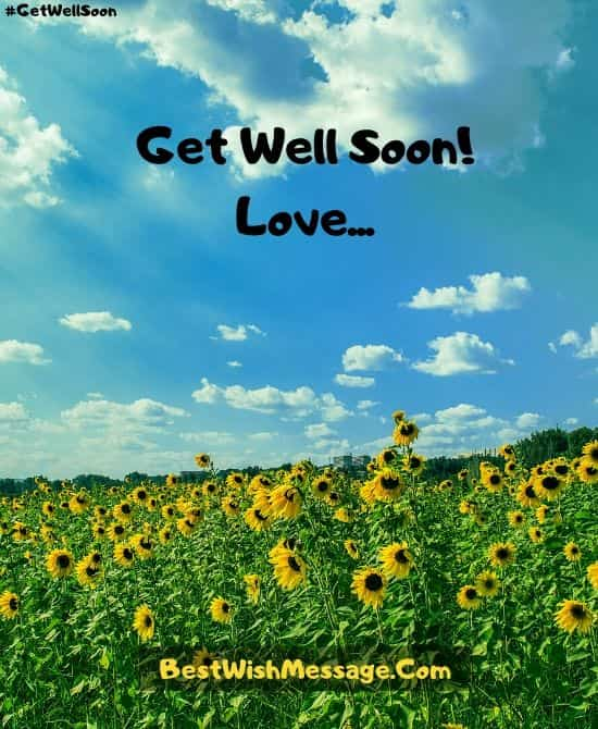 Romantic Get Well Soon Messages for Wife or Girlfriend