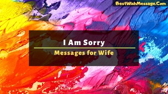 i am sorry messages for wife