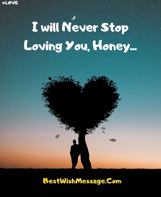 I Will Never Stop Loving You Messages for Boyfriend