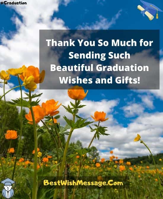 Thank You Messages for Family on My Graduation