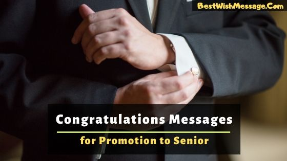 Congratulations Messages for Promotion to Senior