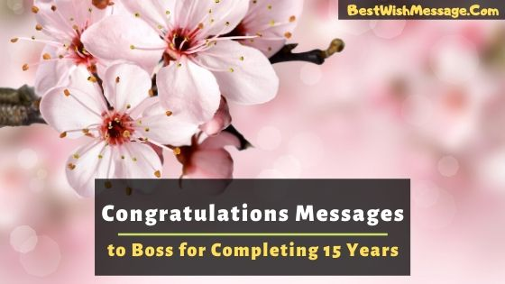 Congratulations Messages to Boss for Completing 15 Years