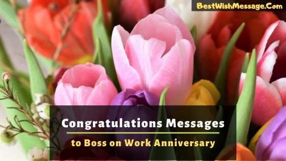 Congratulations Messages to Boss on Work Anniversary
