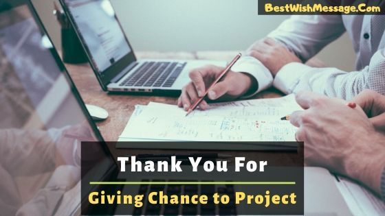 Thank You for Giving Me the Opportunity to Work on This Project