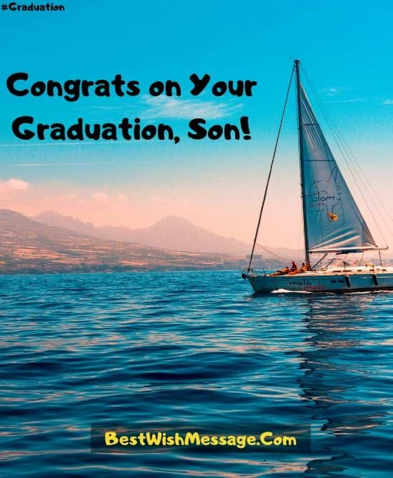 High School Graduation Messages from Mother to Son