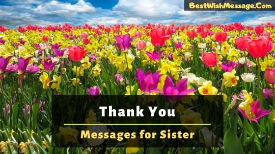 thank you messages for sister