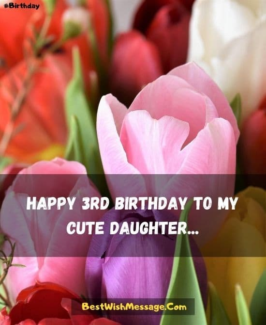 3rd Birthday Wishes for Daughter