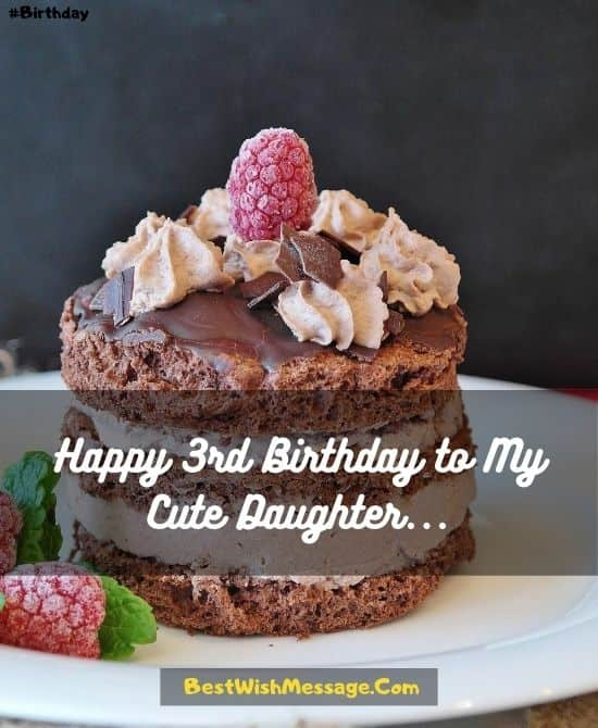 Happy 3rd Birthday to Daughter