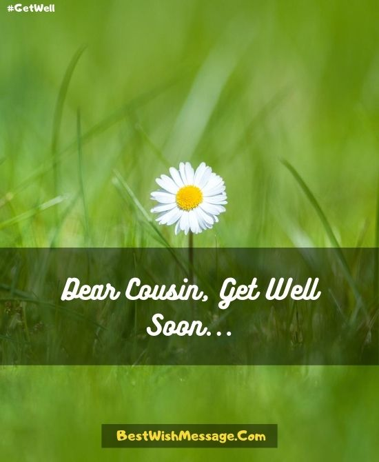 Get Well Soon Prayers for Cousin