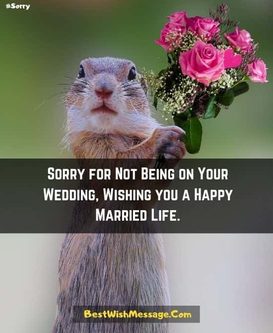 Wedding Messages if You Are not Attending