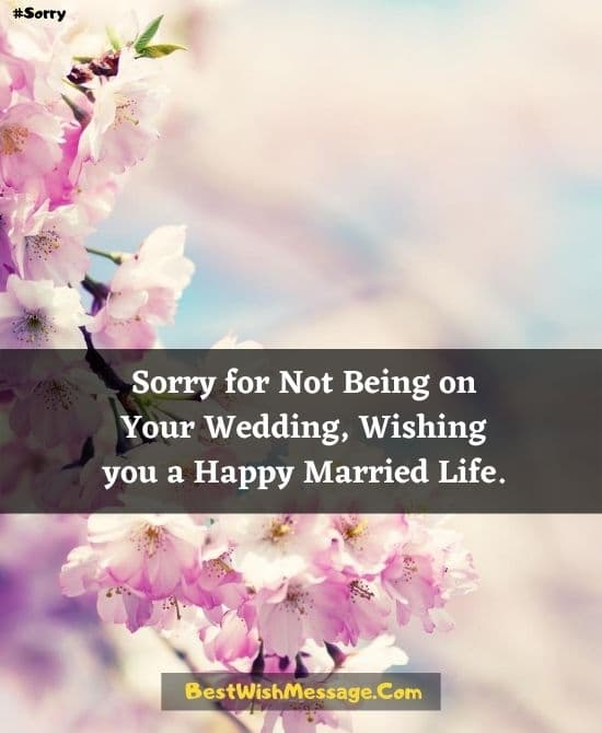 Sorry Messages for Not Attending Destination Wedding