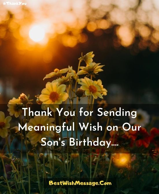 Thank You for Birthday Wishes on Behalf of My Son