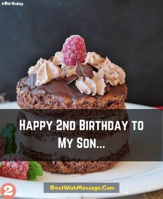 2nd Birthday Wishes for Son from Mom