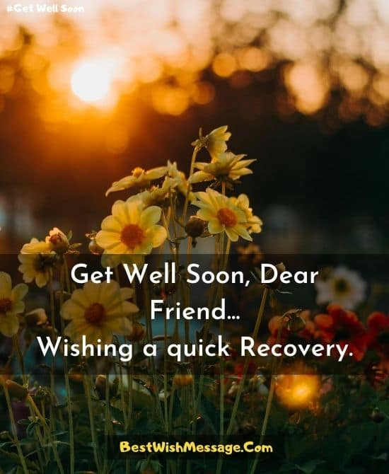 Get Well Soon Messages for Best Friend