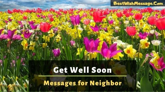 get well soon messages for neighbor
