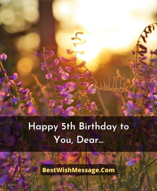 Birthday Wishes for 5 Years Old