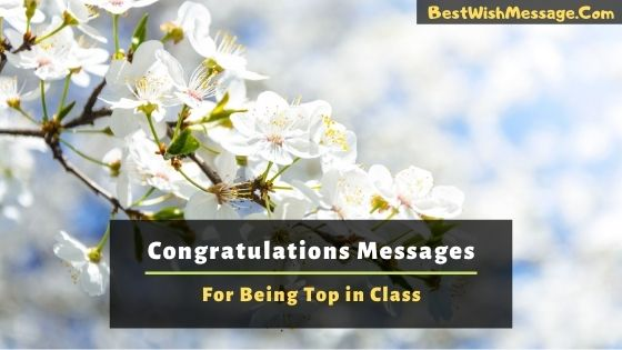 Congratulations Messages for Being Top in Class