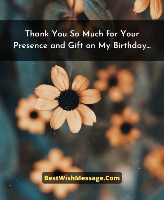 Thank You Messages to Girlfriend for Birthday Party and Gift