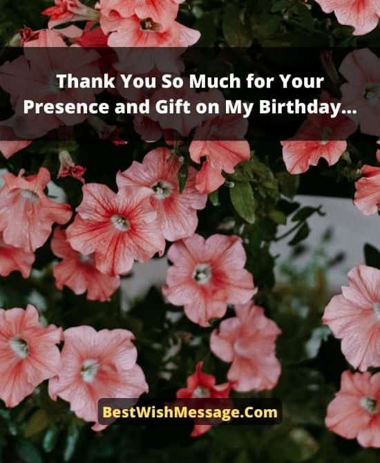 Appreciation Messages for Birthday Party and Gift