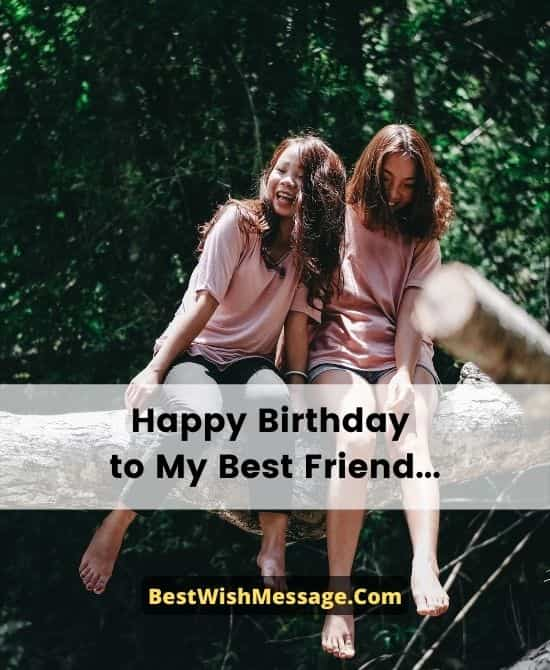 Heart Touching Birthday Messages to a Best Friend
