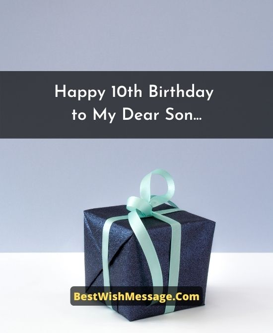10th Birthday Wishes for Son