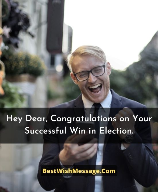 Congratulations Messages for Winning Election as City Mayor