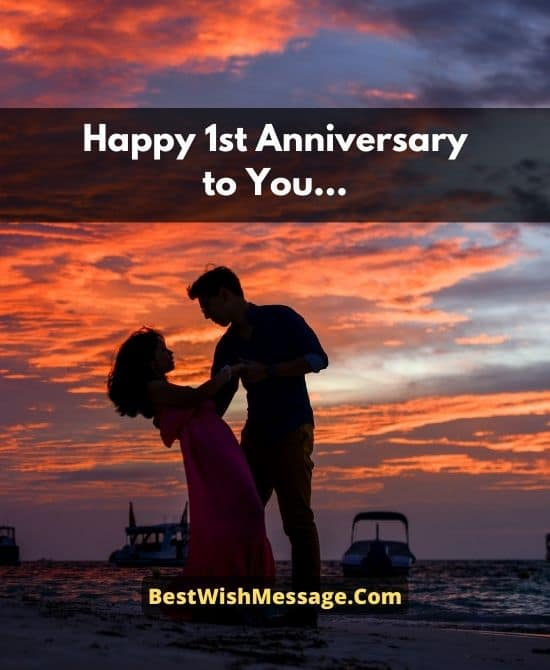 1st Anniversary Wishes for Couple