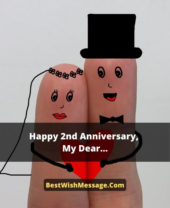 Second Marriage Anniversary Wishes