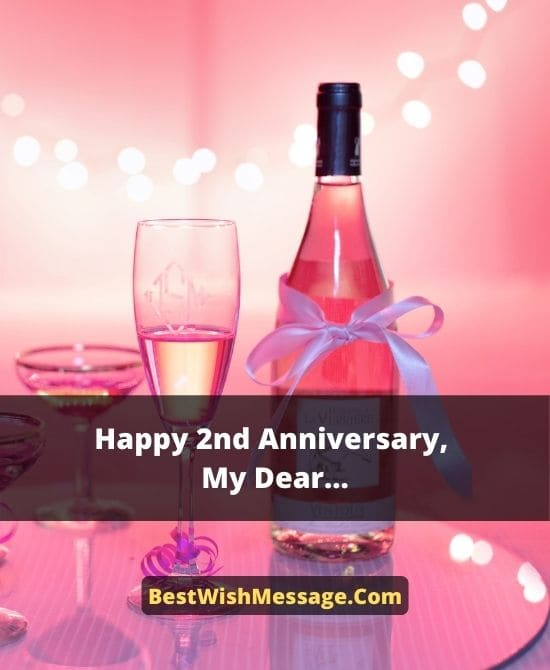 Second Anniversary Wishes for Brother