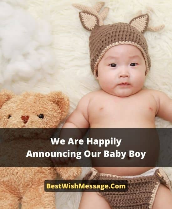 Announcement SMS for Newborn Baby Arrival Messages