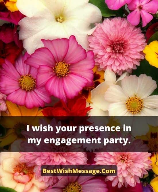 Engagement Party Invitation Wordings for Friends