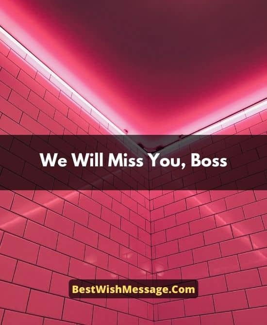 Goodbye Messages to Boss Who is Leaving