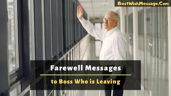 Farewell Messages to Boss Who is Leaving