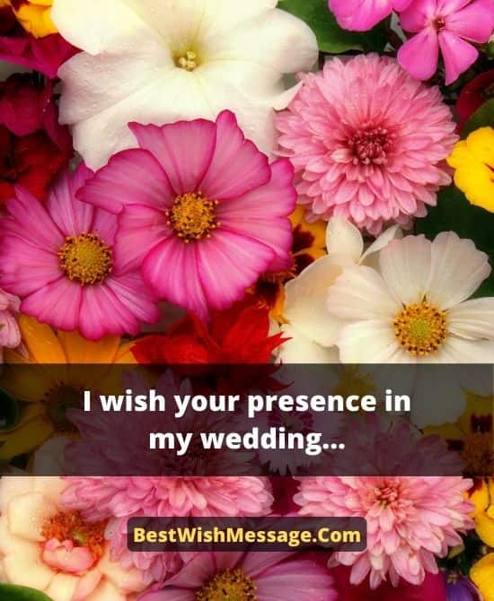 Marriage Invitation Text Message for Friends
