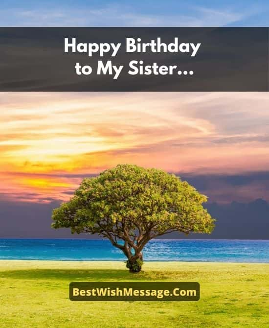 Inspirational Birthday Wishes for Sister
