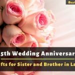 25th Wedding Anniversary Gifts for Sister and Brother in Law