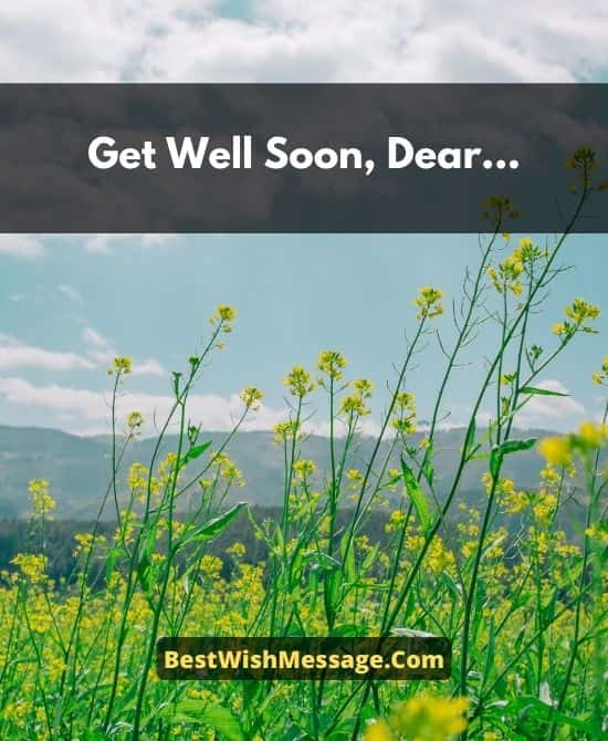 Get Well Soon Messages for Friend's Son