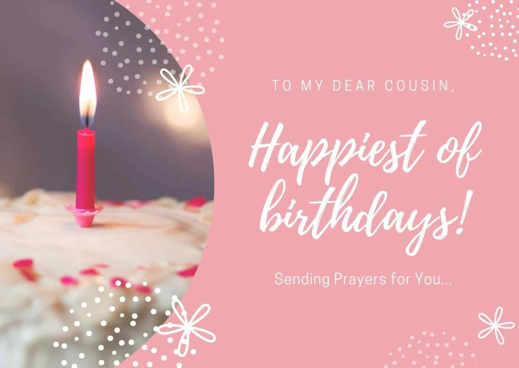 Religious Birthday Wishes for Cousin Female/Sister