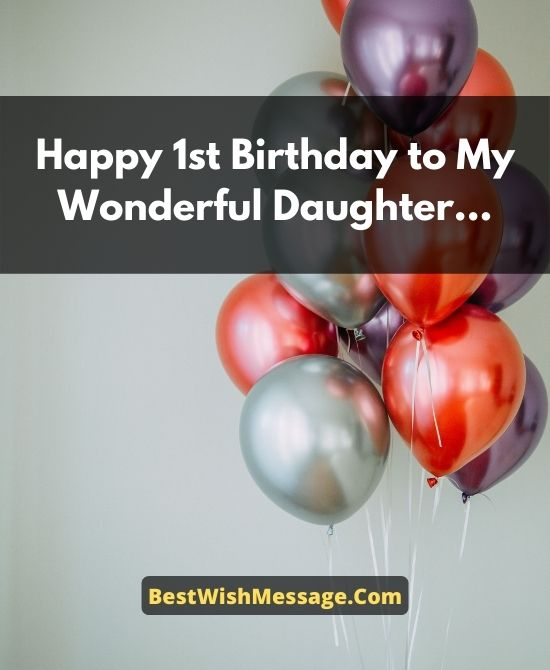 Birthday Wishes for Daughter Turning 1