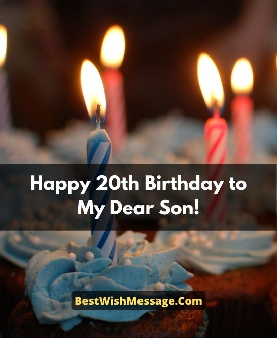 20th Birthday Wishes for Son