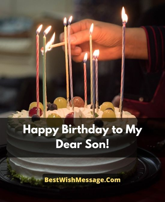 Heart Touching 20th Birthday Messages for Son from Parents