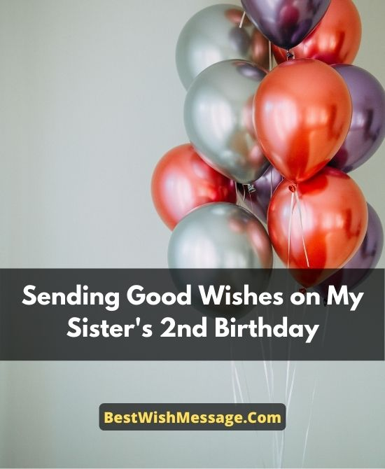 Birthday Wishes for Sister Turning 2 from Brother